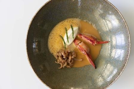 Bisque van Kreeft | Crème fraîche | Garnalen